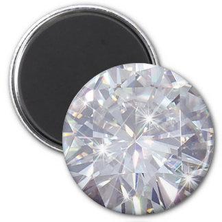 Diamonds are a Girls Best Friend 6 Cm Round Magnet