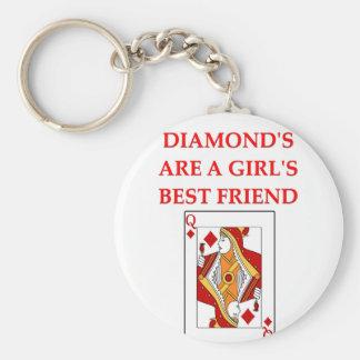 diamonds are a girl's best friend key ring
