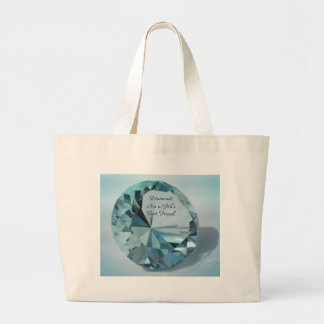 diamonds are a girls best friend large tote bag