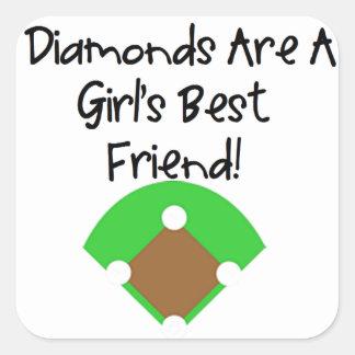 Diamonds are a Girl's Best Friend! Square Sticker