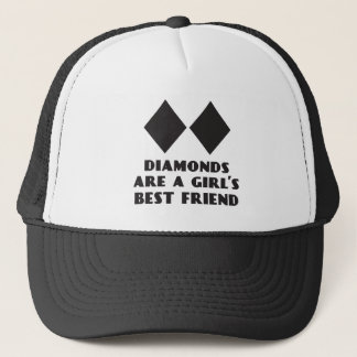 Diamonds are a Girl's Best Friend Trucker Hat