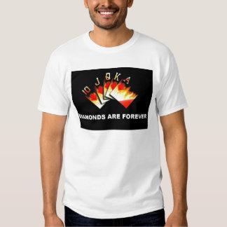 Diamonds are Forever Poker Art T shirt WPT Vegas