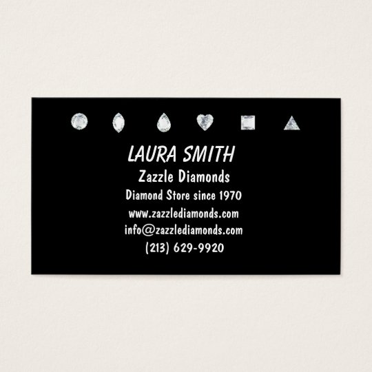 Diamonds-Black Business Card