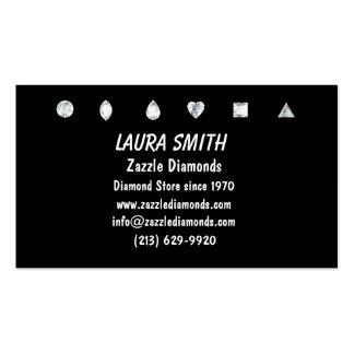 Diamonds-Black Business Card Template