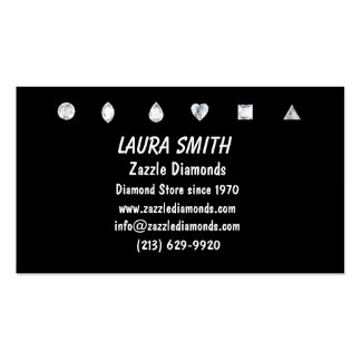 Diamonds-Black Pack Of Standard Business Cards