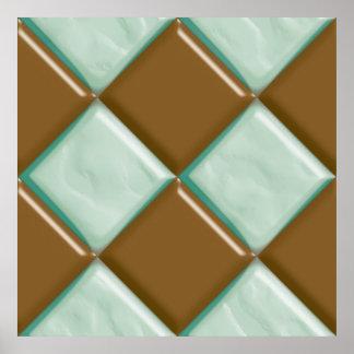 Diamonds - Chocolate Mint Posters