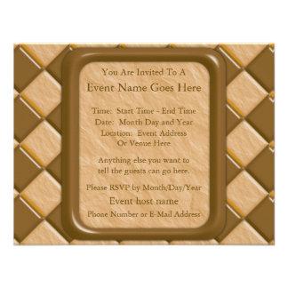 Diamonds - Chocolate Peanut Butter Invite
