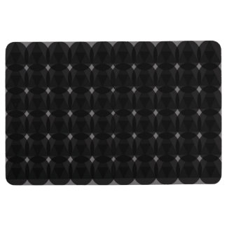 Diamonds Circles Black Floor Mat