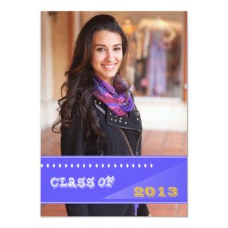 Diamonds Class of 2013 Photo Graduation Announceme 13 Cm X 18 Cm Invitation Card