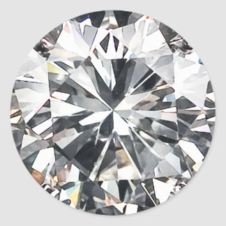Diamonds Classic Round Sticker
