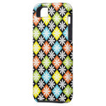 Diamonds floral colourful pattern iphone 5 case