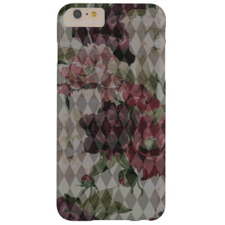 Diamonds & Flowers Pattern Mashup Barely There iPhone 6 Plus Case