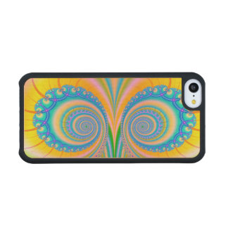 Diamonds Fractal Carved® Maple iPhone 5C Slim Case