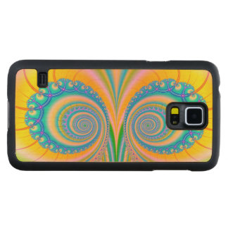 Diamonds Fractal Carved® Maple Galaxy S5 Case