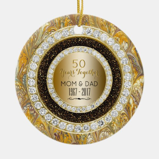 Diamonds Gold 50th Wedding Anniversary 50 Years Christmas