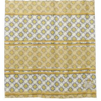 Diamonds Gold Plain Shower Curtain