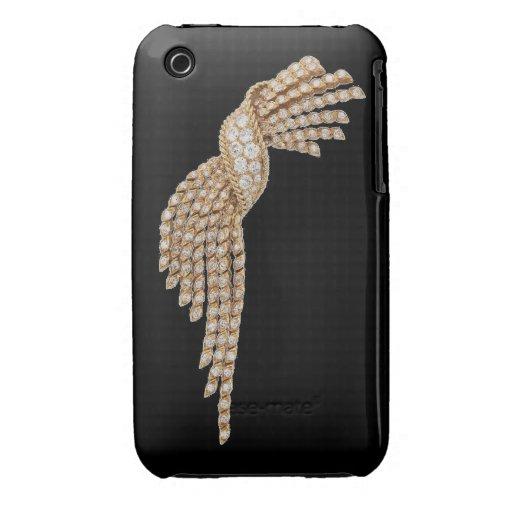 Diamonds Gold Tassel Blackberry Curve Case black iPhone 3 Case-Mate Cases