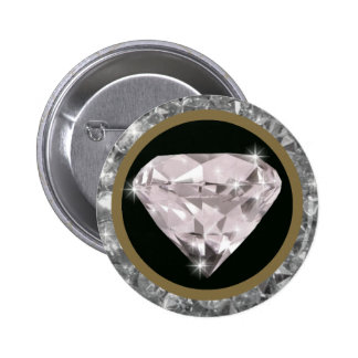 diamonds in a circle 6 cm round badge