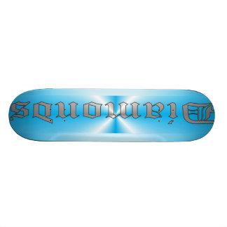 Diamonds in Blue & Grey 18.1 Cm Old School Skateboard Deck