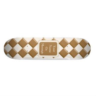 Diamonds - Milk Chocolate and White Chocolate Skate Board Deck
