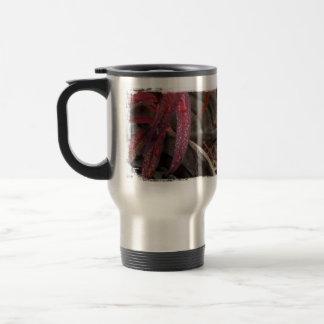 Diamonds on a Leaf Stainless Steel Travel Mug