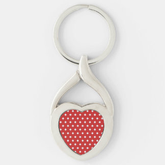 Diamonds on ANY color custom key chain Silver-Colored Twisted Heart Key Ring