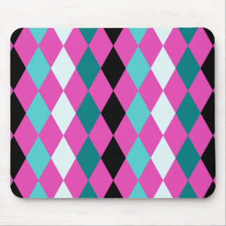 Diamonds on Pink Mouse Pads