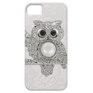 Diamonds Owl & Paisley Lace iPhone 5 Case
