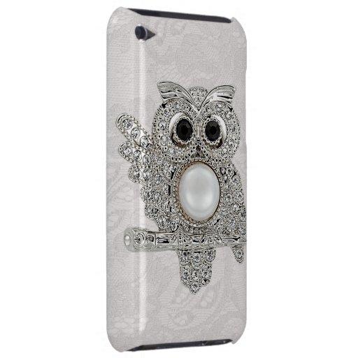 Diamonds Owl & Paisley Lace iPod Touch Case