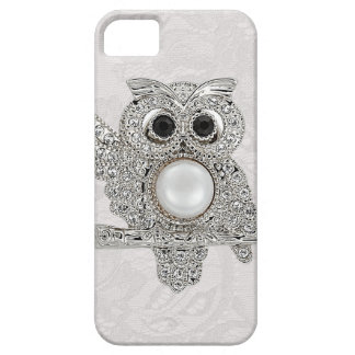 Diamonds Owl & Paisley Lace printed IMAGE iPhone 5 Case