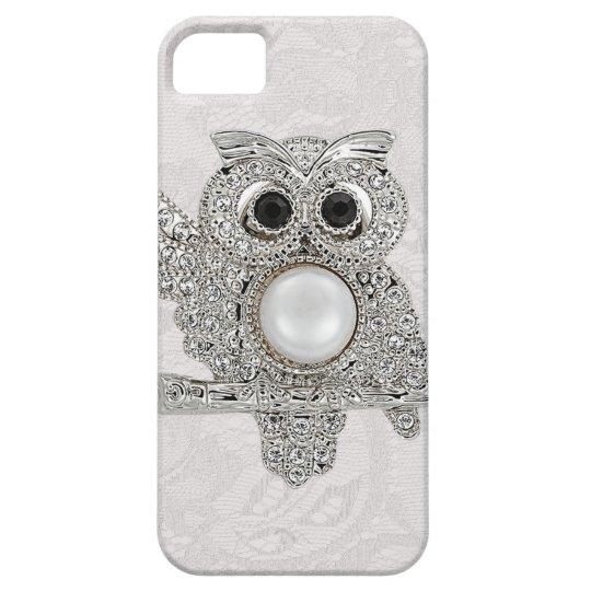 Diamonds Owl & Paisley Lace printed IMAGE iPhone