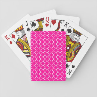Diamonds Pattern Cut Out Effect Pink Playing Cards
