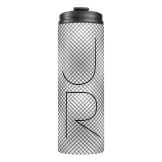 Diamonds Pattern Monogram Thermal Tumbler