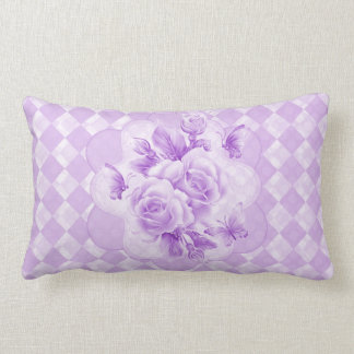 Diamonds Roses Butterfly American Mojo Pillow