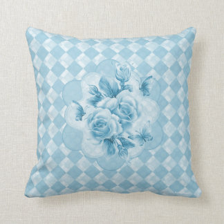 Diamonds Roses Butterfly American Mojo Pillow Throw Cushion