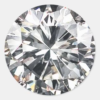 Diamonds Round Sticker
