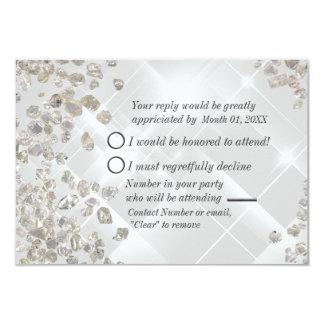 Diamonds RSVP 3.5x5 Paper Invitation Card