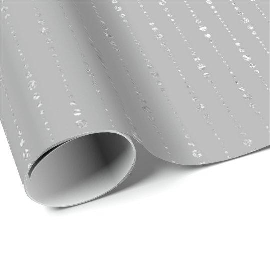 Diamonds Silver Graphite Gray Stripes Drops Vip Wrapping