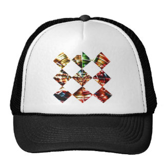 Diamonds Sparkle V1  - Red Cosmic Energy Mesh Hats