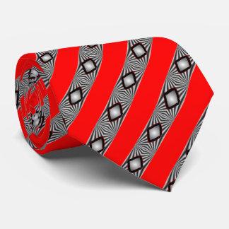 Diamonds With Strips Ties. Tie