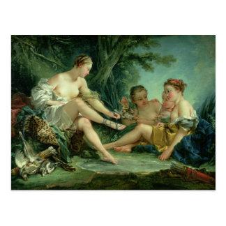 Diana after the Hunt, 1745 Postcard