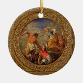 Diana and Actaeon, from the ceiling of the library Round Ceramic Decoration