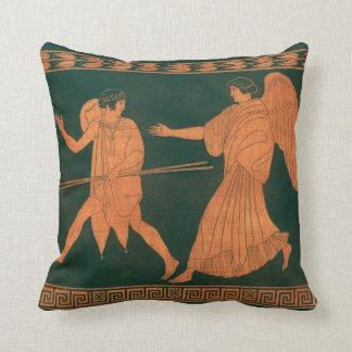 Diana and an Angel, Vintage Roman Mythology Throw Cushion