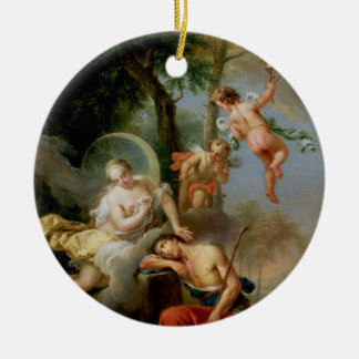 Diana and Endymion Round Ceramic Decoration