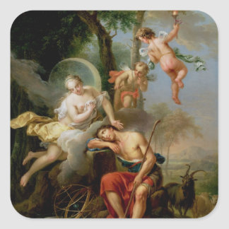 Diana and Endymion Square Sticker