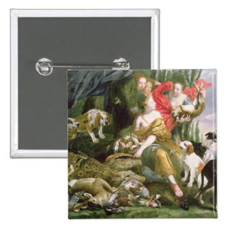 Diana and her handmaidens after the hunt 15 cm square badge