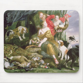 Diana and her handmaidens after the hunt mouse mat