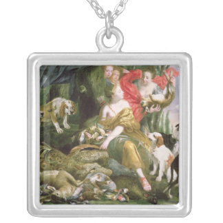 Diana and her handmaidens after the hunt silver plated necklace