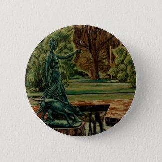Diana Artemis Sculpture In Gardens 6 Cm Round Badge