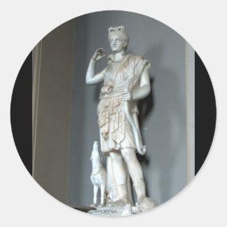 Diana (Artemis) Statue in the Vatican in Rome Classic Round Sticker